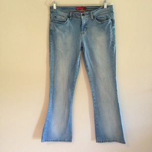 Vintage Y2K SO Light Wash Flared Stretch Jeans